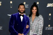 (L-R) Russell Wilson and Ciara attend the 9th Annual NFL Honors at Adrienne Arsht Center on February 01, 2020 in Miami, Florida.