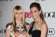 Teen Vogue Editor-in-Chief Amy Astley (L) and actress Hailee Steinfeld attend the 9th annual Teen Vogue's Young Hollywood party at Paramount Studios on September 23, 2011 in Los Angeles, California.