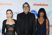 Olesya Rulin, Kenny Ortega and Monique Coleman attend the 9th Annual Thirst Gala at The Beverly Hilton Hotel on April 21, 2018 in Beverly Hills, California.