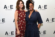 (L-R) Actors Betsy Brandt and Jill Scott of 'Flint' at the Lifetime and A+E Networks portion of the 2017 Summer Television Critics Association Press Tour at The Beverly Hilton Hotel on July 28, 2017 in Beverly Hills, California.