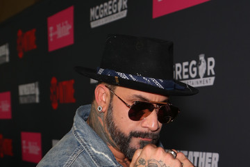 A.J. McLean SHOWTIME, WME|IMG, and MAYWEATHER PROMOTIONS VIP Pre-Fight Party Arrivals on the T-Mobile Magenta Carpet for Mayweather VS McGregor