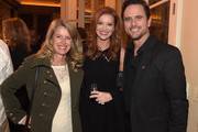 Patty Hanson, TV Personality Alecia Davis and  ABC's Nashville cast member Charles Esten attend A Tribute to Phil Everly to benifit COPD featuring Singer/Songwriter Paul Simon at the home of Sylvia Roberts on October 29, 2014 in Nashville, Tennessee.