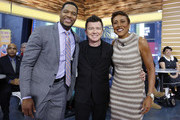 "GOOD MORNING AMERICA - Rick Astley performs live on ""Good Morning America,"" Wednesday, February 15, 2017 on the ABC Television Network. (Photo by Heidi Gutman/ABC via Getty Images).MICHAEL STRAHAN, RICK ASTLEY, ROBIN ROBERTS"