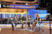 "MATCH GAME - Debra Winger is a guest on ""Good Morning America,"" on Monday, May 8, 2017 airing on the ABC Television Network. (Photo by Lou Rocco/ABC via Getty Images).MICHAEL STRAHAN, ROBIN ROBERTS, DEBRA WINGER, GEORGE STEPHANOPOULOS, LARA SPENCER"