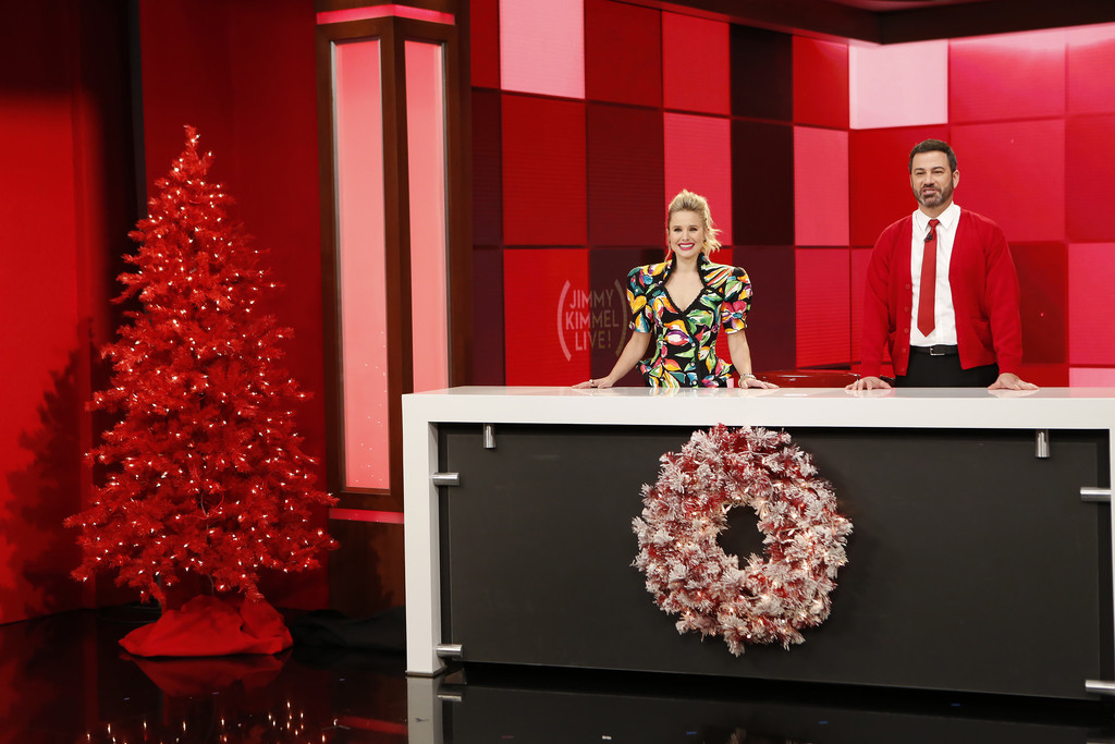 Kristen Bell and Jimmy Kimmel Photos Photos - ABC\'s \