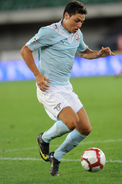 Mauro Zarate of Lazio in action during the Serie A match between Chievo and Lazio at Stadio Marc'Antonio Bentegodi on August 30, 2009 in Verona, Italy.