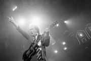 Guitar player Angus Young (L) and Singer Axl Rose of AC/DC perform during the AC/DC Rock Or Bust Tour at Madison Square Garden on September 14, 2016 in New York City.