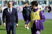 Paulo Sousa manager of AFC Fiorentina and Giuseppe Rossi of ACF Fiorentina during the Serie A match between ACF Fiorentina and Frosinone Calcio at Stadio Artemio Franchi on November 1, 2015 in Florence, Italy.