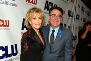 Honoree Jane Fonda and Hector Villagra, executive director at ACLU Southern California, attend ACLU SoCal Hosts Annual Bill of Rights Dinner at the Beverly Wilshire Four Seasons Hotel on December 3, 2017 in Beverly Hills, California.