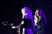 (L-R) Deana Carter and Carly Pearce perform onstage ACM Lifting Lives®: Decades on April 06, 2019 in Las Vegas, Nevada.