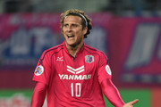 Diego Forlan #10 of Cerezo Osaka looks on during the AFC Champions League match between Cerezo Osaka and Buriram United at Nagai Stadium on March 18, 2014 in Osaka, Japan.