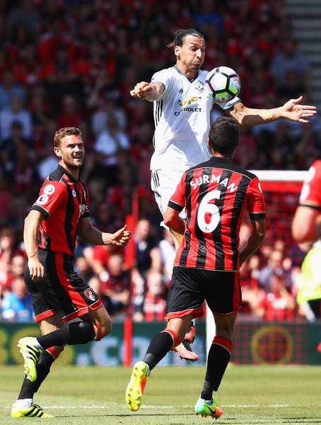 Zlatan Ibrahimovic in AFC Bournemouth v Manchester United ...