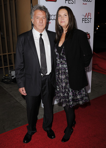 "Actor Dustin Hoffman (L) and wife Lisa Gottsegen arrive at ""Barney's Version"" screening during AFI FEST 2010 presented by Audi held at Egyptian Theatre on November 6, 2010 in Hollywood, California."