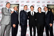 """(L-R) Co-President and Co-Founder of Sony Pictures Classics Michael Barker, producer Jon Kilik, actor Steve Carell, director/producer Bennett Miller, producer Megan Ellison and Co-President and Co-Founder of Sony Pictures Classics Tom Bernard attend the premiere of Sony Pictures Classics' """"Foxcatcher"""" during AFI FEST 2014 presented by Audi at Dolby Theatre on November 13, 2014 in Hollywood, California."""