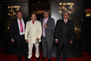 """(L-R) Chilean miners Luis Urzua, Edison 'Elvis' Pena, Juan Carlos Aguilar and Mario Gomez attend the Centerpiece Gala Premiere of Alcon Entertainment's """"The 33"""" during AFI FEST 2015 presented by Audi at TCL Chinese Theatre on November 9, 2015 in Hollywood, California."""
