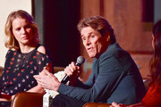 (L-R) Joanna Kulig, Willem Dafoe, and Kathryn Hahn speak onstage at AFI FEST 2018 Presented by Audi - Indie Contenders at The Hollywood Roosevelt Hotel on November 11, 2018 in Los Angeles, California.