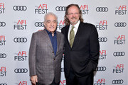 (L-R) Martin Scorsese and AFI President and CEO Bob Gazzale attend 'A Tribute To Martin Scorsese' at AFI FEST 2019 presented by Audi at TCL Chinese Theatre on November 15, 2019 in Hollywood, California.