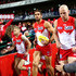 Josh Kennedy Photos - Josh Kennedy of the Swans leads team mates onto the field during the round 23 AFL match between the Sydney Swans and the Hawthorn Hawks at Sydney Cricket Ground on August 25, 2018 in Sydney, Australia. - AFL Rd 23 - Sydney vs. Hawthorn