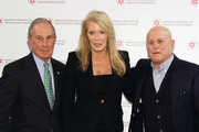 Former Mayor of New York City, Presenter Michael Bloomberg, Christine Taylor and Honoree, 2015 AFMDA Humanitarian Award Ronald O. Perelman attend AFMDA Red Star Gala at The Grand Hyatt New York on December 2, 2015 in New York City.