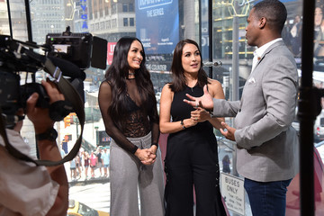 AJ Calloway The Bella Twins Visit 'Extra'