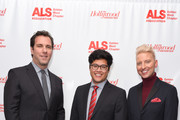 Matthew Belloni; Justin Ichida and Chris Gardner attend ALS Golden West Chapter Hosts Champions For Care And A Cure at The Fairmont Miramar Hotel & Bungalows on December 2, 2017 in Santa Monica, California.