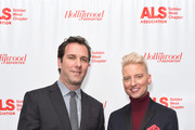 Matthew Belloni and Chris Gardner attend ALS Golden West Chapter Hosts Champions For Care And A Cure at The Fairmont Miramar Hotel & Bungalows on December 2, 2017 in Santa Monica, California.