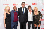 Jennifer Lucas, Bryon Allen, Fred Fisher, Richie Sambora and Orianthi attend ALS Golden West Chapter Hosts Champions For Care And A Cure at The Fairmont Miramar Hotel & Bungalows on December 2, 2017 in Santa Monica, California.