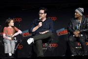 (L-R) Cailey Fleming, Josh McDermitt, and Seth Gilliam speak onstage during a panel for AMC's The Walking Dead Universe including AMC's flagship series and the untitled new third series within The Walking Dead franchise at Hulu Theater at Madison Square Garden on October 05, 2019 in New York City.