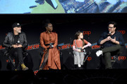 (L-R) Jeffrey Dean Morgan, Danai Gurira, Cailey Fleming, and Josh McDermitt speak onstage during a panel for AMC's The Walking Dead Universe including AMC's flagship series and the untitled new third series within The Walking Dead franchise at Hulu Theater at Madison Square Garden on October 05, 2019 in New York City.