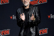 Jeffrey Dean Morgan speaks onstage during a panel for AMC's The Walking Dead Universe including AMC's flagship series and the untitled new third series within The Walking Dead franchise at Hulu Theater at Madison Square Garden on October 05, 2019 in New York City.
