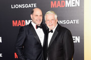 """Series creator Matthew Weiner and actor Robert Morse attend the AMC celebration of the final 7 episodes of """"Mad Men"""" with the Black & Red Ball at the Dorothy Chandler Pavilion on March 25, 2015 in Los Angeles, California."""