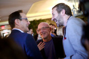 Chris O'Dowd, Jonathan Banks  and Josh Sapan attends AMC Emmy Brunch 2019  on September 21, 2019 in West Hollywood, California.