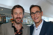 Chris O'Dowd and  Josh Sapan attends AMC Emmy Brunch 2019  on September 21, 2019 in West Hollywood, California.