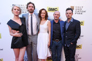 (L-R) Actors Mackenzie Davis, Lee Pace, Kerry Bishe, Toby Huss and Scoot McNairy attend AMC's new series 'Halt And Catch Fire' Los Angeles Premiere at ArcLight Cinemas on May 21, 2014 in Hollywood, California.