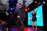 (L-R) Taboo, APL.De.Ap and Fergie of the Black Eyed Peas perform at APL.De.Ap's Birthday Celebration and Launch of Charity Dreams at The Conga Room at L.A. Live on December 13, 2011 in Los Angeles, California.