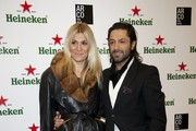 Rafael Amargo and wife Yolanda Jimenez attend ARCO Fair cocktail party 2012 at Neptuno Palace on February 15, 2012 in Madrid, Spain.