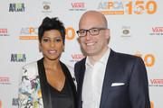 """Tamron Hall (L) and ASPCA President & CEO Matthew Bershadker attend ASPCA & Animal Planet Host Exclusive Premiere Screening Of """"Second Chance Dogs"""" In Honor Of ASPCA's 150th Anniversary on April 10, 2016 in New York City."""