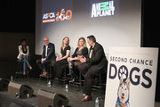 """(L-R)  Tamron Hall, Matthew Bershadker, Kristen Collins, Erin Wanner, and Kenn Bell speak onstage during the ASPCA & Animal Planet Host Exclusive Premiere Screening Of """"Second Chance Dogs"""" In Honor Of ASPCA's 150th Anniversary on April 10, 2016 in New York City."""