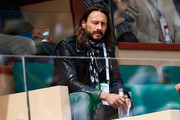 DJ Bob Sinclar watches play during day seven of the Monte Carlo Rolex Masters tennis at the Monte-Carlo Sporting Club on April 18, 2015 in Monte-Carlo, Monaco.