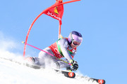 Tessa Worley of France competes in the first run of the AUDI FIS Ski World Cup Ladies Giant Slalom on October 28, 2017 in Soelden, Austria.