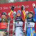 Anja Paerson Maria Riesch Photos - Maria Riesch (C) of Germany, Linsey Vonn of USA takes 2nd place and Anja Paerson of Sweden takes 3rd place during the Audi FIS Alpine Ski World Cup Men's Downhill on March 10, 2010 in Garmisch-Partenkirchen, Germany. - AUDI FIS World Cup - Men's Downhill
