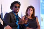 Rapper Chingy speaks onstage at the How Emotions Predict The Virality of Videos panel presented by Virool during Advertising Week 2015 AWXII at the ADARA Stage at Times Center Hall on September 29, 2015 in New York City.