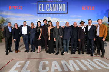 Aaron Paul Jonathan Banks Netflix Hosts The World Premiere For 'El Camino: A Breaking Bad Movie' In L.A.