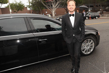 Aaron Paul Arrivals at the Elton John AIDS Foundation Oscars Viewing Party