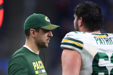 Aaron Rodgers Green Bay Packers vDetroit Lions