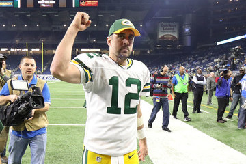 Aaron Rodgers Green Bay Packers v Detroit Lions
