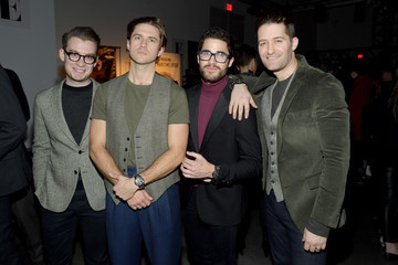 Aaron Tveit Todd Snyder - Front Row - February 2018 - New York Fashion Week: Mens'