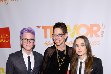 Abbe Land Elliot Page Arrivals at the 'TrevorLive NY' Event