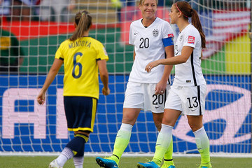Abby Wambach Alex Morgan United States v Colombia: Round of 16 - FIFA Women's World Cup 2015