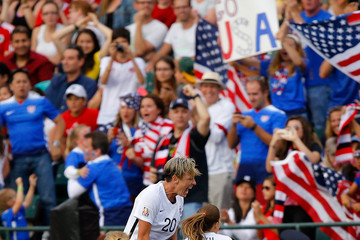 Abby Wambach Megan Rapinoe United States v Colombia: Round of 16 - FIFA Women's World Cup 2015